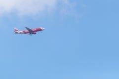 Προσγείωση Thaiairasia στοκ εικόνα