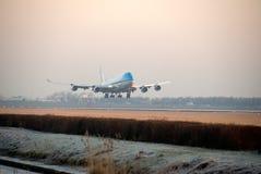 προσγειωμένος αεροπλάνο Στοκ εικόνες με δικαίωμα ελεύθερης χρήσης