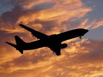προσγειωμένος αεροπλάν&o Στοκ Εικόνα