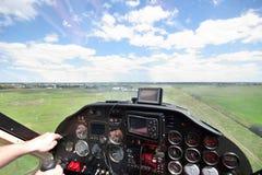 προσγειωμένος αεροπλάνο μικρό Στοκ εικόνα με δικαίωμα ελεύθερης χρήσης
