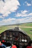 προσγειωμένος αεροπλάνο μικρό Στοκ φωτογραφία με δικαίωμα ελεύθερης χρήσης