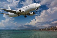Προσγειωμένος αεροπλάνο Στοκ Εικόνα