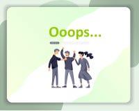 Προσγειωμένος απεικόνιση σελίδων λάθους προτύπων σελίδων με τους χαρακτήρες ανθρώπων βρήκε όχι τη σελίδα Διανυσματική απεικόνιση  απεικόνιση αποθεμάτων