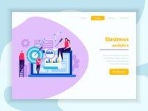 Προσγειωμένος ιστοσελίδας επιχειρησιακού Analytics απεικόνιση αποθεμάτων