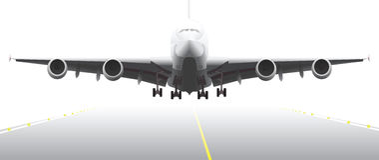 προσγειωμένος μέρος 2 αεροσκαφών Στοκ Εικόνες