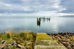 Προσγειωμένος στάδιο στο νησί Amrum, Γερμανία Στοκ Φωτογραφία