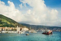 Προσγειωμένος στάδιο στην όμορφη Αδριατική Στοκ Φωτογραφία