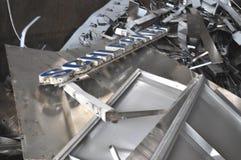 προσγειωμένο σημάδι απορρίματος μετάλλων schlecker Στοκ Εικόνες