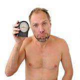 Προσεγγισμένο πρώην άτομο που απομονώνεται στην άσπρη ανασκόπηση στοκ εικόνα