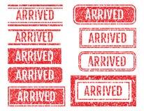 Προσεγγισμένο ύφος Grunge σφραγιδών με τις γρατσουνιές καθορισμένες ελεύθερη απεικόνιση δικαιώματος