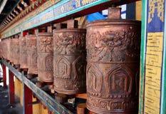 Προσεηθείτε τις ρόδες στο Θιβέτ στοκ φωτογραφία με δικαίωμα ελεύθερης χρήσης