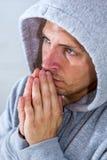 Προσευμένος άτομο Στοκ Εικόνες