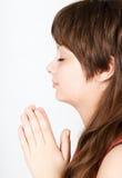Προσευμένος έφηβος Στοκ Εικόνα