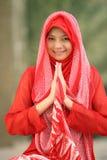 προσευμένος γυναίκα Ισ&lam στοκ εικόνες