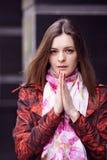 Προσευμένος κορίτσι Στοκ εικόνες με δικαίωμα ελεύθερης χρήσης