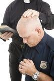 προσευχή αστυνομικών Στοκ Εικόνες