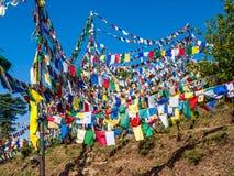 προσευχή λόφων σημαιών dharamsala Στοκ φωτογραφίες με δικαίωμα ελεύθερης χρήσης