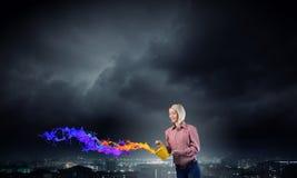 Προσθέστε κάποιο χρώμα στη ζωή σας Στοκ Φωτογραφίες