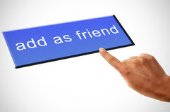 προσθέστε ως φίλος Στοκ φωτογραφίες με δικαίωμα ελεύθερης χρήσης