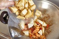 Προσθήκη tofu Στοκ φωτογραφία με δικαίωμα ελεύθερης χρήσης