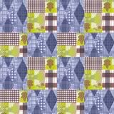 Προσθηκών άνευ ραφής σχεδίων υπόβαθρο φθινοπώρου διακοσμήσεων ριγωτό Στοκ Εικόνες