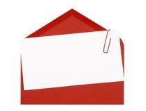 Προσκαλέστε ή κάρτα πρόσκλησης, κόκκινος φάκελος στοκ εικόνα με δικαίωμα ελεύθερης χρήσης