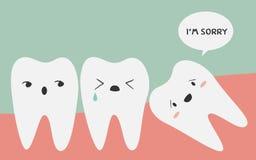 Προσκρουμένο δόντι Στοκ φωτογραφία με δικαίωμα ελεύθερης χρήσης