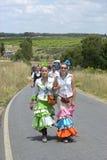 Προσκυνητές εφήβων στο δρόμο τους στη EL Rocio, Ισπανία Στοκ Εικόνες