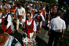 Προσκυνητές που πηγαίνουν στο άδυτο της Mary μητέρων σε Czestochowa Στοκ φωτογραφία με δικαίωμα ελεύθερης χρήσης