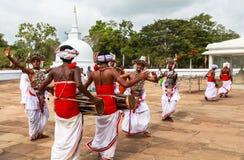 Προσκυνητές σε Anuradhapura, Σρι Λάνκα Στοκ Φωτογραφία