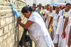 Προσκυνητές σε Anuradhapura, Σρι Λάνκα Στοκ Εικόνες