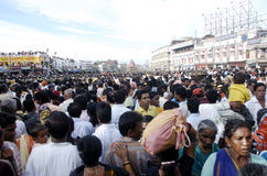Προσκυνητές σε Rath Yatra Στοκ Εικόνες