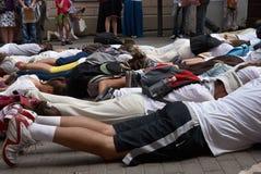 Προσκυνητές στην πλήρη προσκύνηση Στοκ φωτογραφία με δικαίωμα ελεύθερης χρήσης