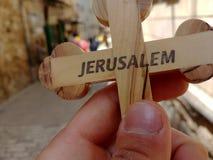 Προσκυνητής με το σταυρό Στοκ φωτογραφία με δικαίωμα ελεύθερης χρήσης