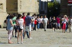 Προσκυνητής στη Γαλικία (Ισπανία) Στοκ εικόνα με δικαίωμα ελεύθερης χρήσης