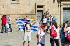 Προσκυνητής στη Γαλικία (Ισπανία) Στοκ Εικόνες