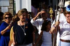 Προσκύνημα προς τιμή τον προστάτη Άγιος 7 Στοκ Φωτογραφίες