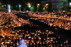 Προσκύνημα σε Lourdes - νύχτα Στοκ εικόνα με δικαίωμα ελεύθερης χρήσης