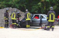 Προσομοίωση διάσωσης του ατυχήματος Στοκ εικόνα με δικαίωμα ελεύθερης χρήσης