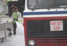 Προσομοίωση πυρκαγιάς Στοκ Εικόνες