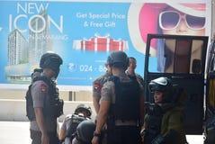 Προσομοίωση της ασφάλειας βομβών στην κορώνα Σεμαράνγκ ξενοδοχείων Στοκ εικόνα με δικαίωμα ελεύθερης χρήσης