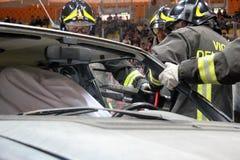 Προσομοίωση του τροχαίου ατυχήματος Στοκ Εικόνες