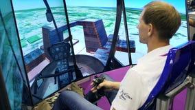 Προσομοιωτής πτήσης στο γεγονός με την παρουσίαση των καινοτομιών φιλμ μικρού μήκους