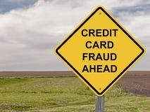 Προσοχή - απάτη πιστωτικών καρτών μπροστά στοκ φωτογραφίες με δικαίωμα ελεύθερης χρήσης