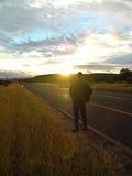 προσοχή ηλιοβασιλέματο& Στοκ φωτογραφίες με δικαίωμα ελεύθερης χρήσης