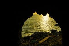 Προσοχή μέσω της τρύπας Στοκ φωτογραφίες με δικαίωμα ελεύθερης χρήσης