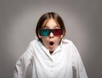 Προσοχή μικρών κοριτσιών ένας κινηματογράφος Στοκ εικόνα με δικαίωμα ελεύθερης χρήσης