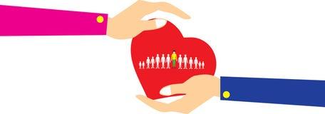 Προσοχή πελατών, προσοχή για τους υπαλλήλους, Εργατικό Συνδικάτο, CRM, και έννοιες ασφαλείας ζωής Στοκ Εικόνα
