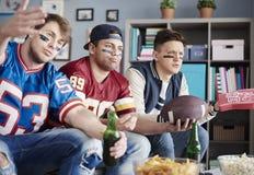 προσοχή ποδοσφαιρικών παιχνιδιών Στοκ Εικόνες