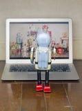 Προσοχή ρομπότ Στοκ Εικόνα